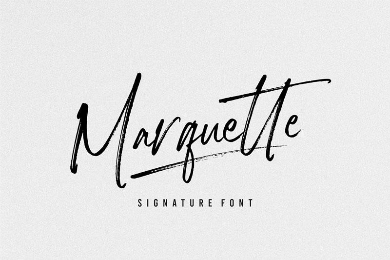Marquette 签名连笔英文字体