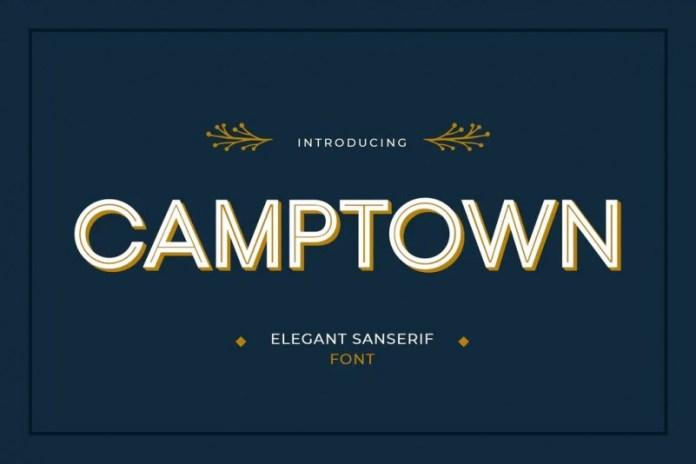 Camptown空心无衬线英文字体