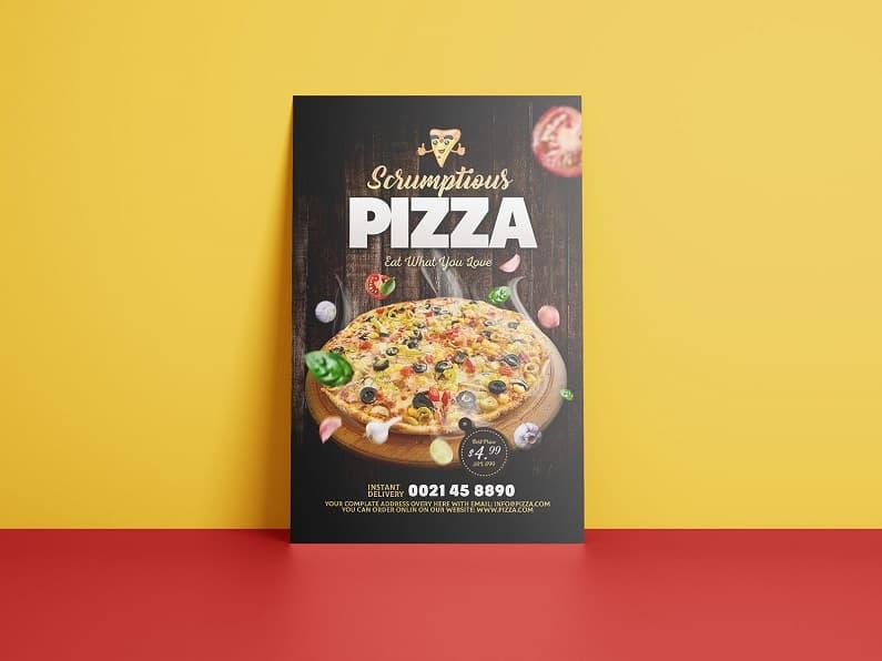 比萨活动店宣传单设计模板PSD素材