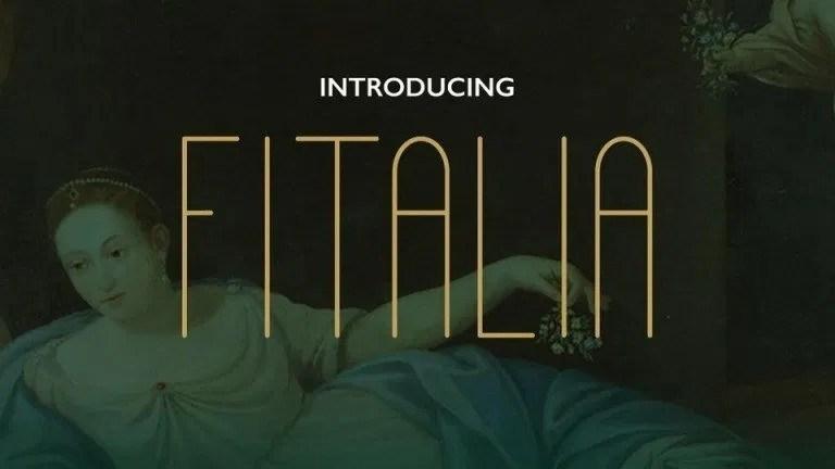 Fitalia超细瘦高的无衬线ps极简设计英文字体下载