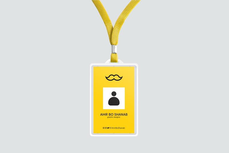 员工工作证吊牌样机素材图片