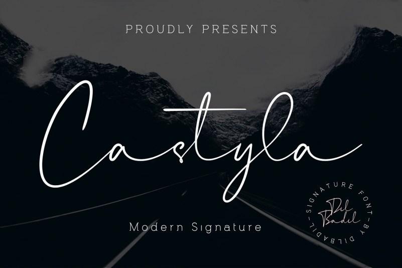 Castyla波浪一样飘逸的连笔签名手写艺术ps英文字体下载