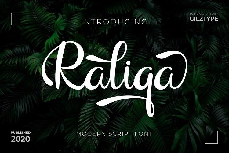 Raliqa漂亮的手写粗体英文艺术字体下载 食品包装LOGO常用