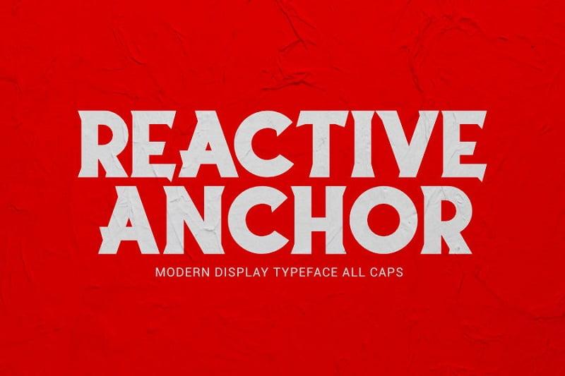 Reactive Anchor超粗英文衬线字体下载