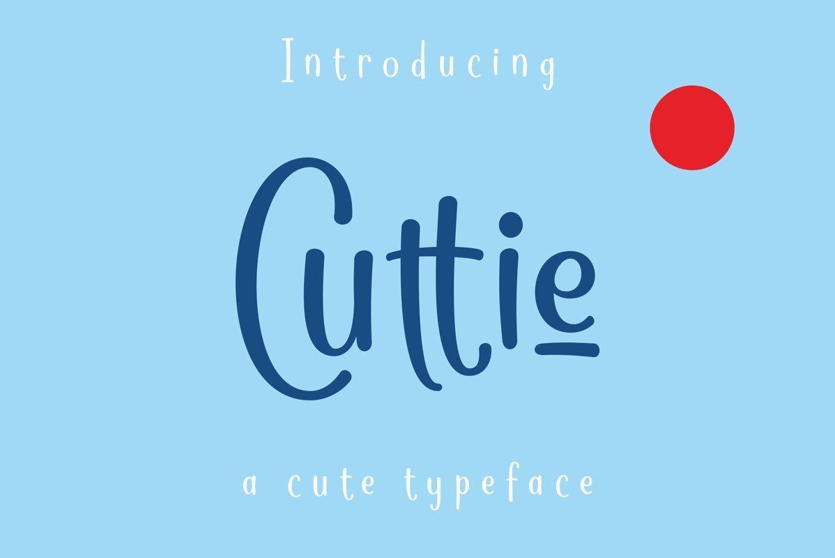 Cuttie可爱圆润画笔手写英文字体免费下载