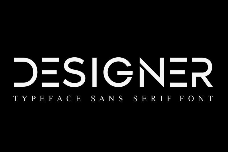 设计师英文字体下载|科幻未来感断续线条字母