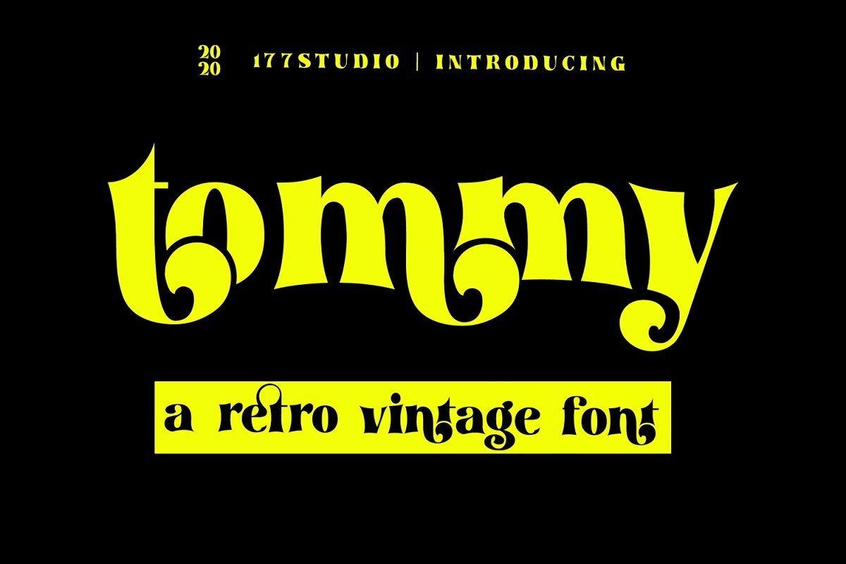 Tommy超粗复古怪异英文字体|炫酷个性设计字母