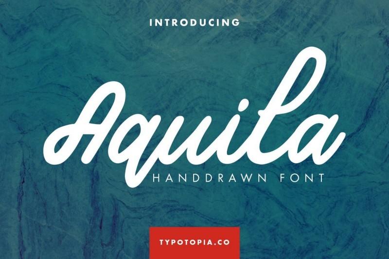 Aquila精美圆润涂鸦连笔手写英文字体免费下载