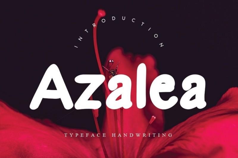 Azalea英文字体下载 粗画笔手写涂鸦圆润可爱字母