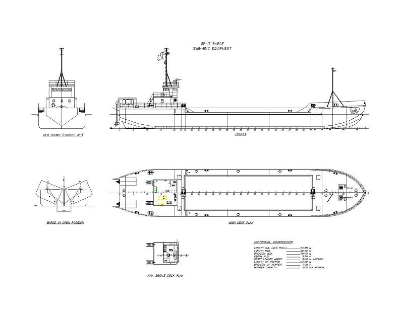 货轮cad图纸三视图轮船平面设计素材卸载