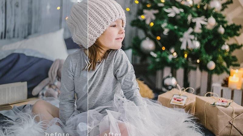 圣诞节气氛lr预设 暖色调胶片高质量lr人像滤镜下载