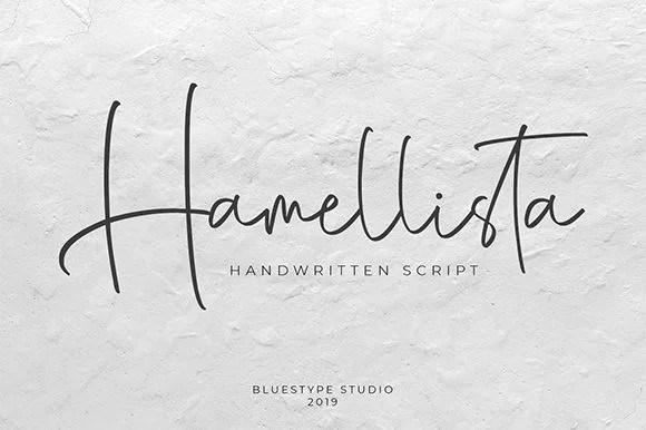 Hamellista记号笔英文字体下载 潇洒签名手写字母
