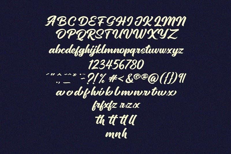Sinethar复古加粗英文字体 标题设计推荐英文字母