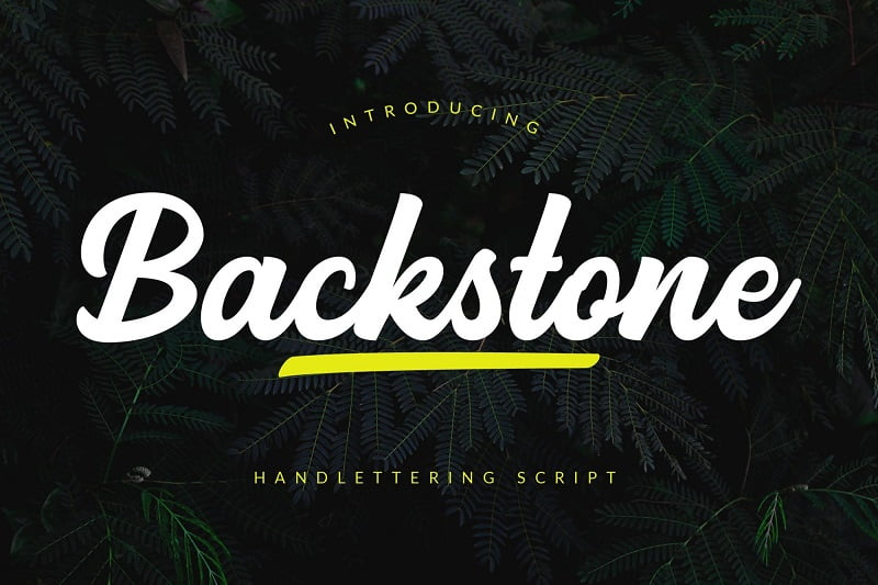 Backstone大气书法笔刷手写英文招牌设计字体下载