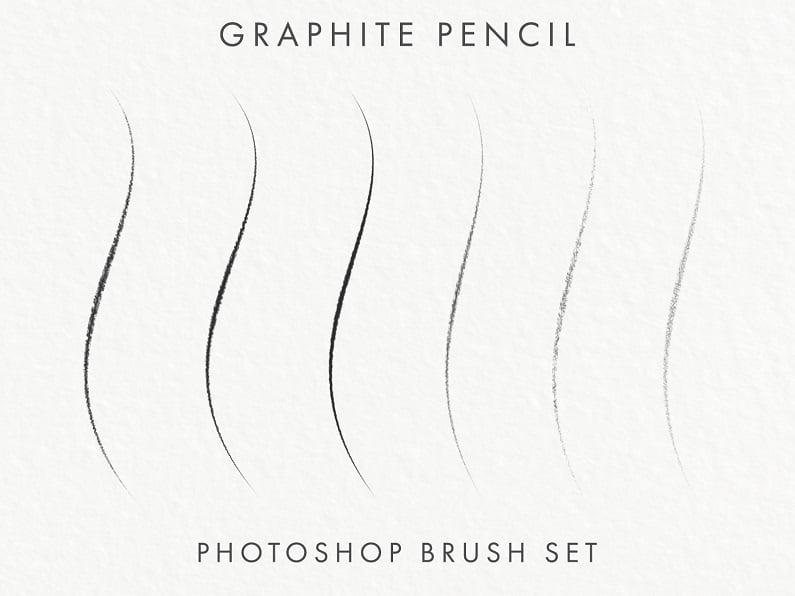 石墨粗糙纤细铅笔PS笔刷预设下载