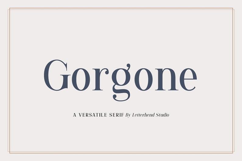 Gorgone奢华优雅的衬线体英文艺术字体下载