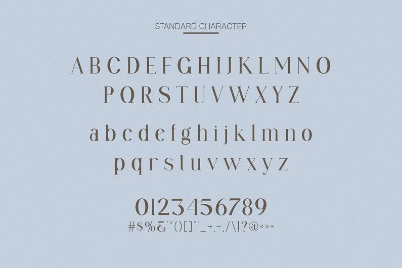 Granger优雅别致好看的有英文衬线字体下载